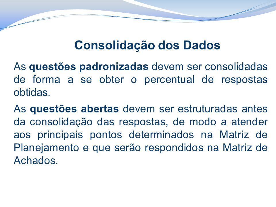 Consolidação dos Dados