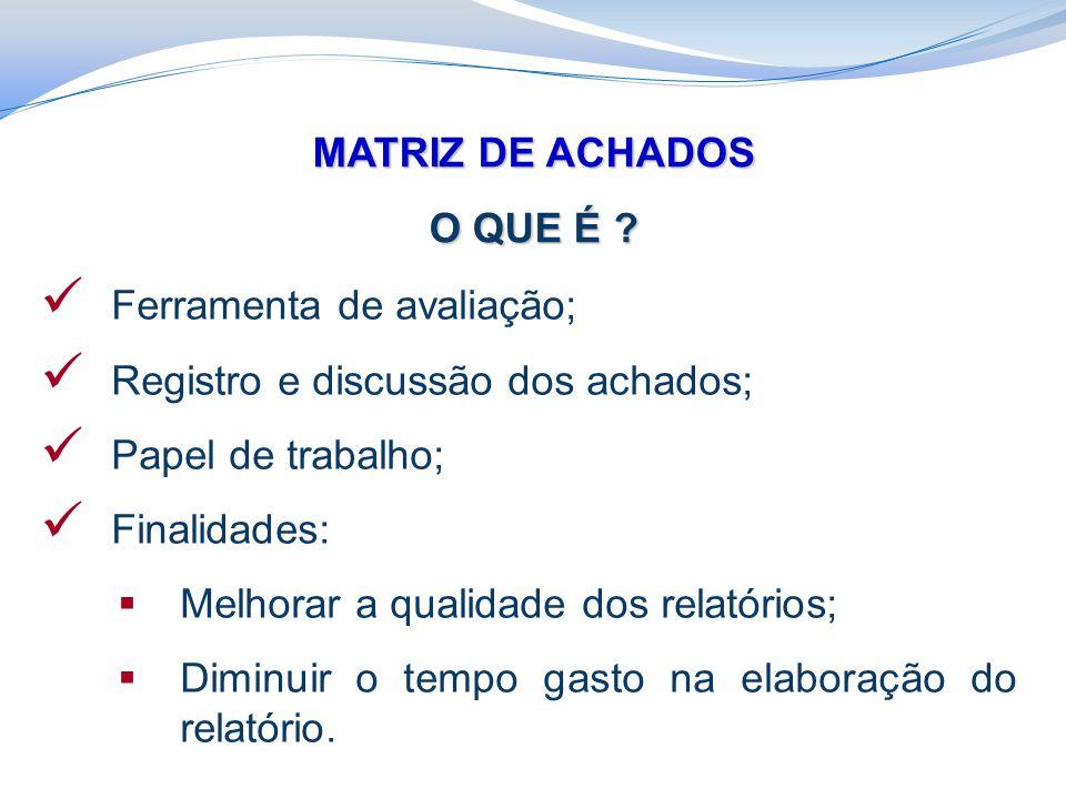 MATRIZ DE ACHADOS O QUE É