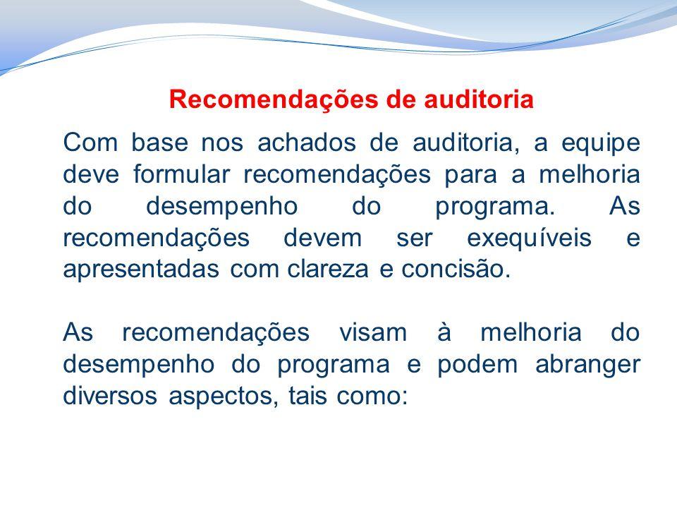 Recomendações de auditoria