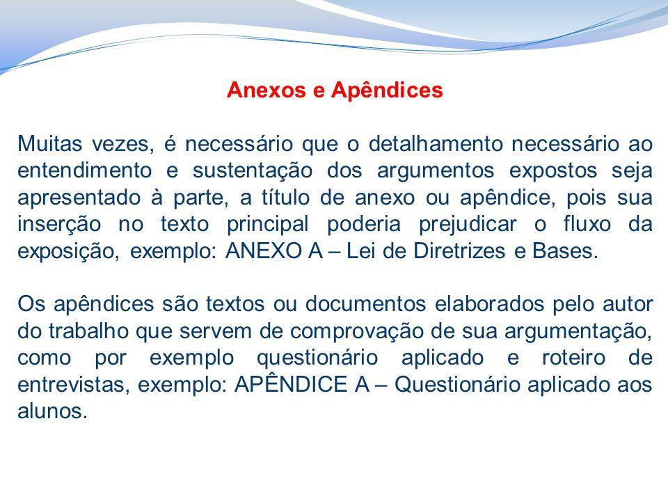 Anexos e Apêndices