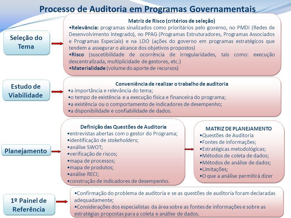 Processo de Auditoria em Programas Governamentais