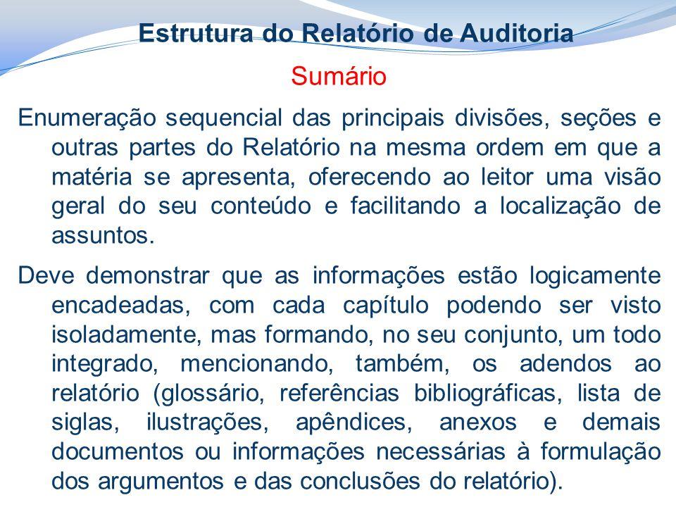 Estrutura do Relatório de Auditoria