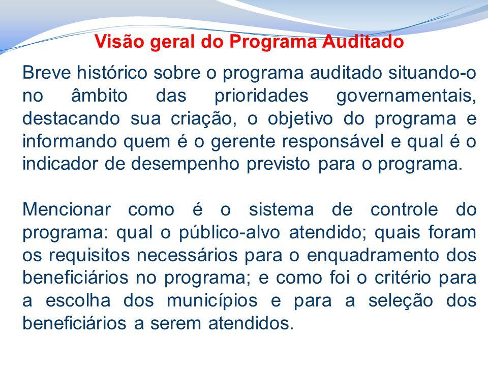 Visão geral do Programa Auditado