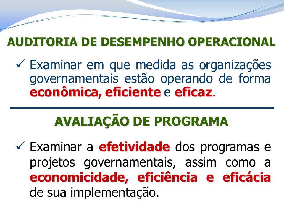 AUDITORIA DE DESEMPENHO OPERACIONAL