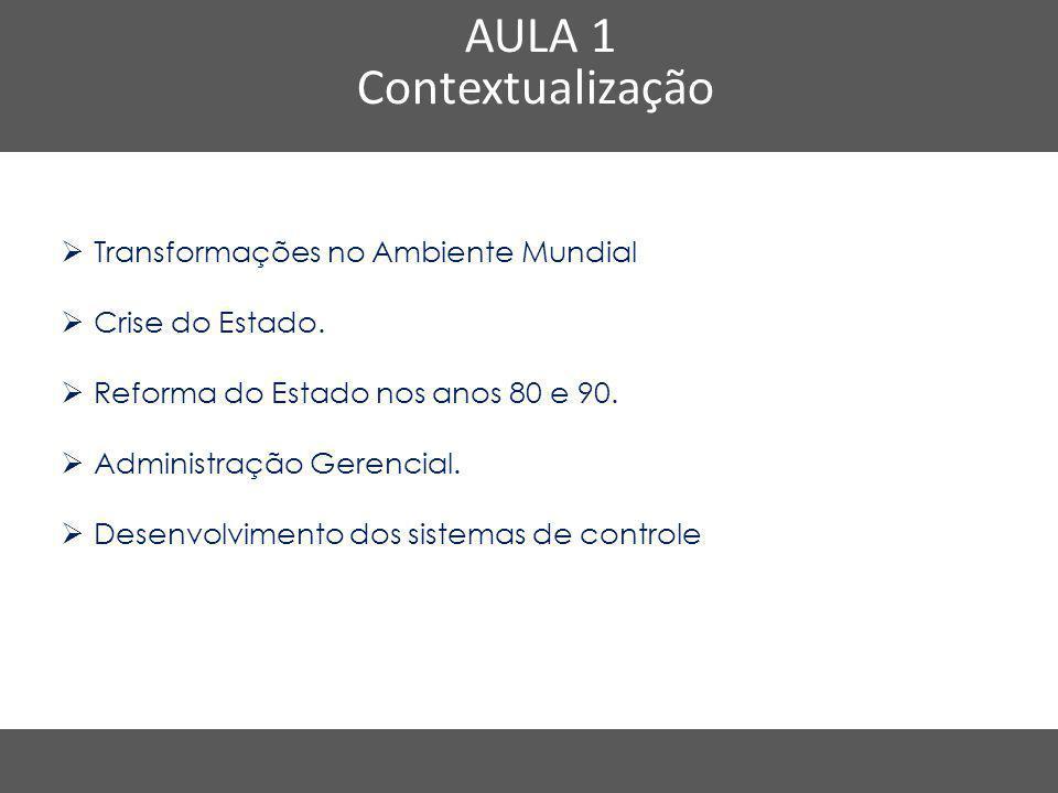 AULA 1 Contextualização Transformações no Ambiente Mundial