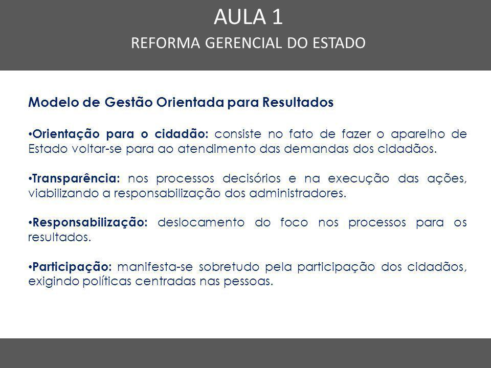 REFORMA GERENCIAL DO ESTADO
