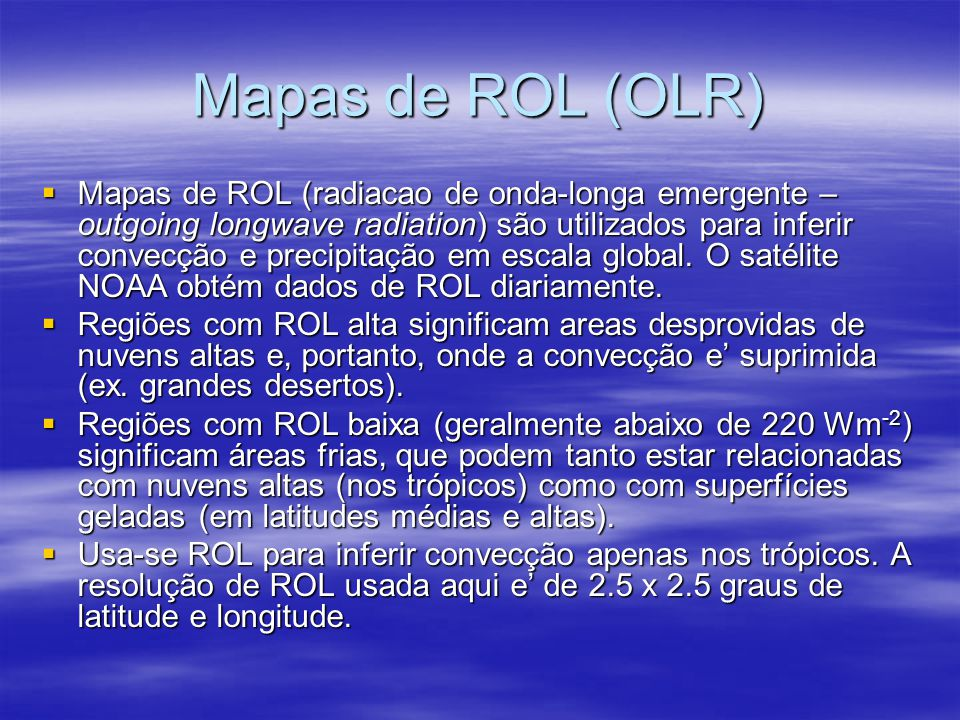 Mapas de ROL (OLR)