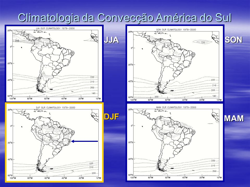 Climatologia da Convecção América do Sul
