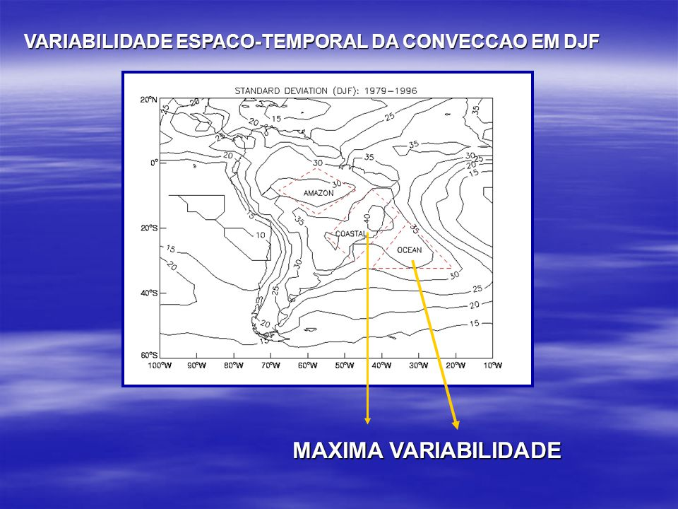 VARIABILIDADE ESPACO-TEMPORAL DA CONVECCAO EM DJF