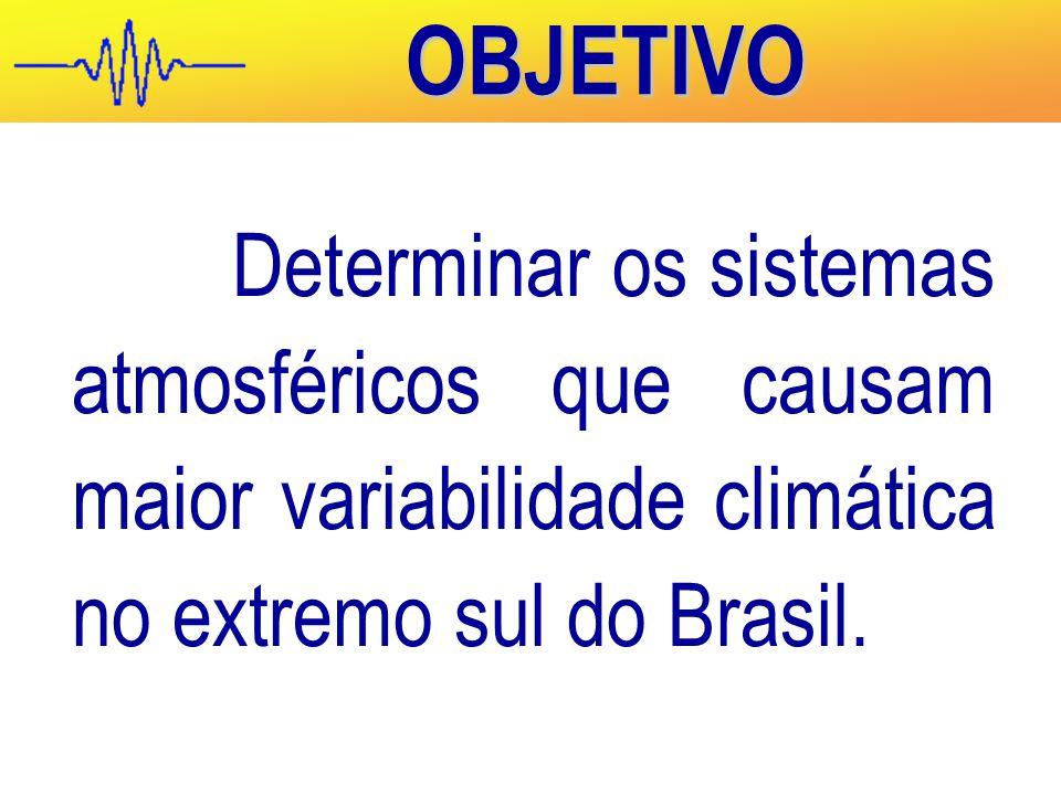 OBJETIVO Determinar os sistemas atmosféricos que causam maior variabilidade climática no extremo sul do Brasil.