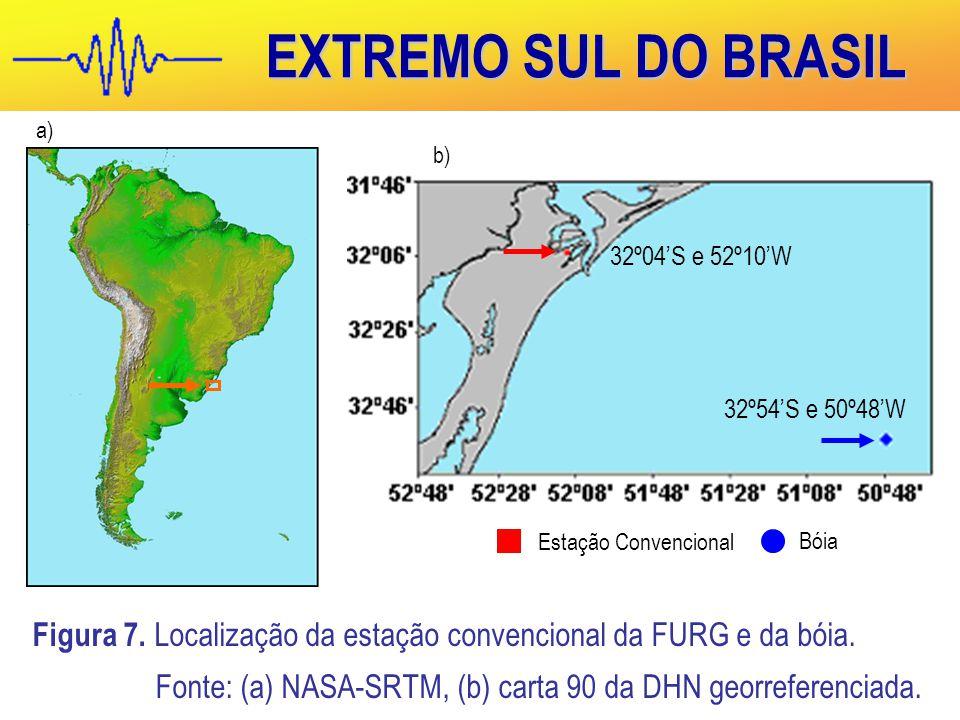 EXTREMO SUL DO BRASIL Estação Convencional. Bóia. a) b) 32º04'S e 52º10'W. 32º54'S e 50º48'W.