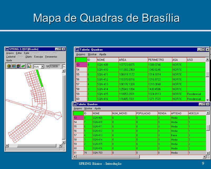 Mapa de Quadras de Brasília