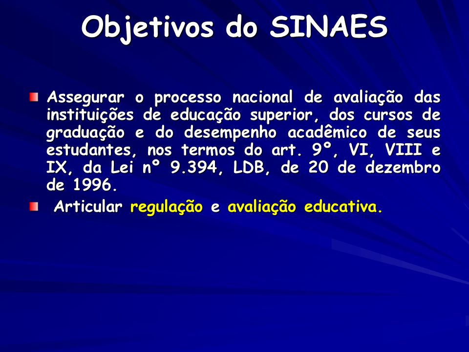Objetivos do SINAES
