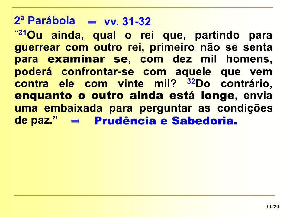 2ª Parábola vv. 31-32.