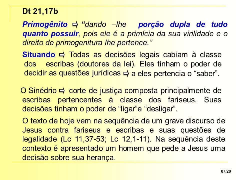 Dt 21,17b Primogênito Situando O Sinédrio