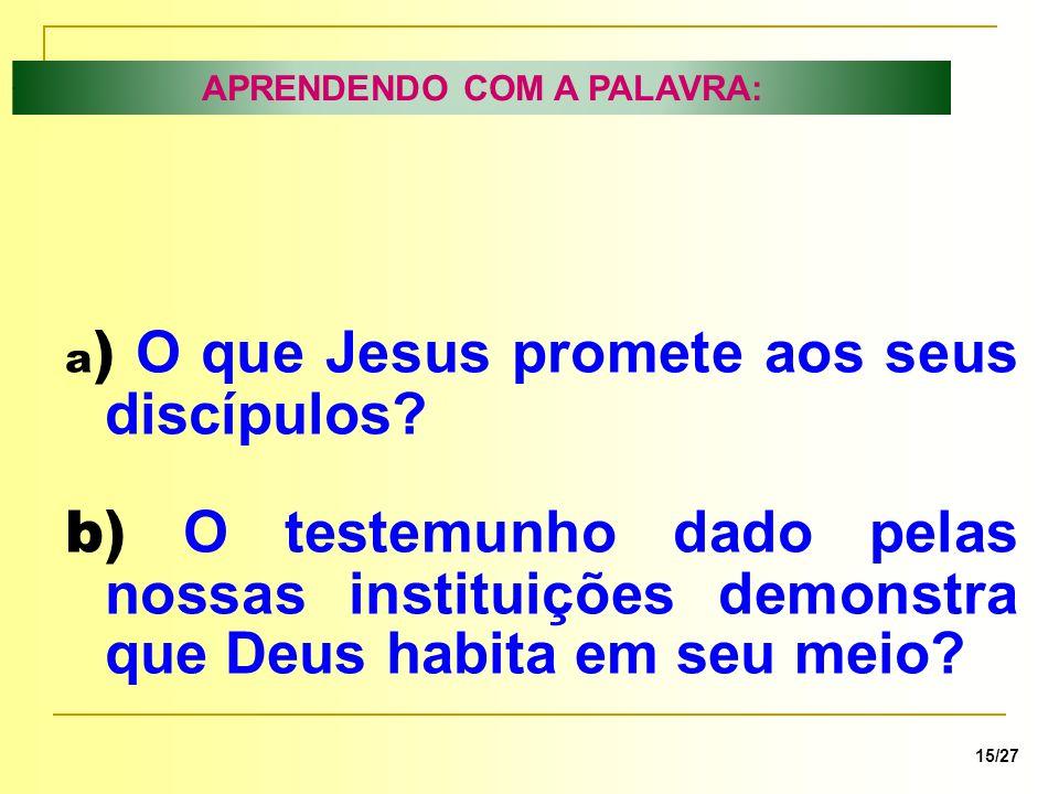 APRENDENDO COM A PALAVRA: