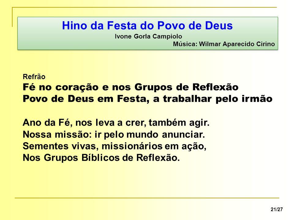 Hino da Festa do Povo de Deus