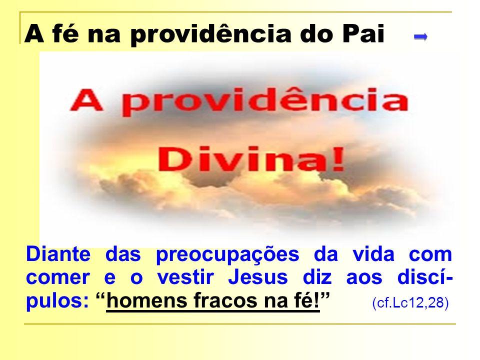 A fé na providência do Pai