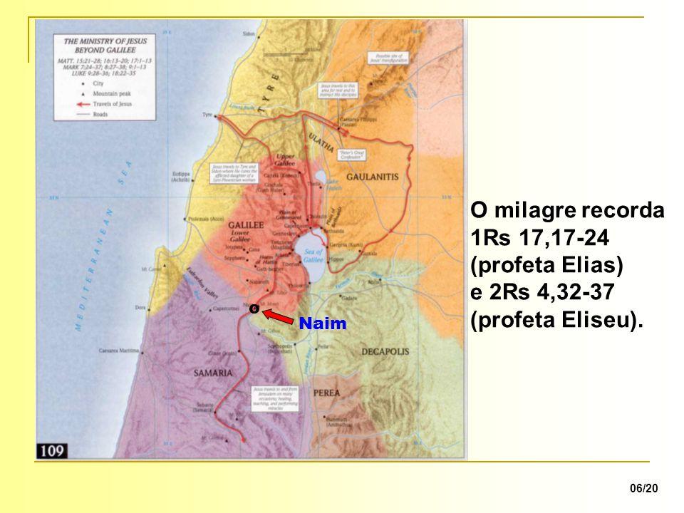 O milagre recorda 1Rs 17,17-24 (profeta Elias)