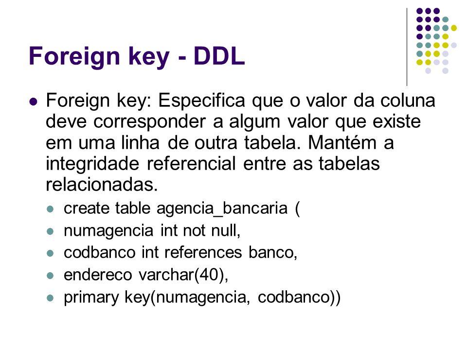 Foreign key - DDL