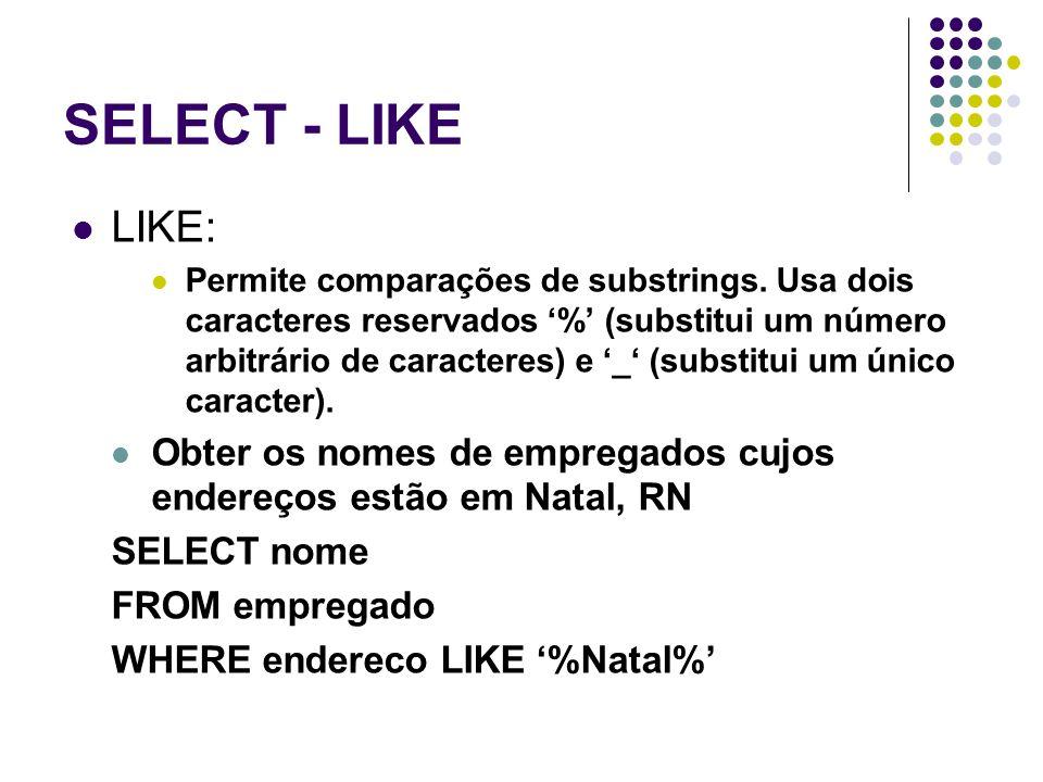 SELECT - LIKE LIKE: