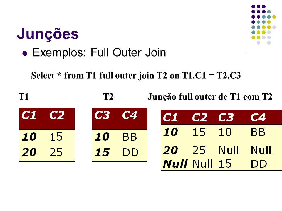 Junções Exemplos: Full Outer Join