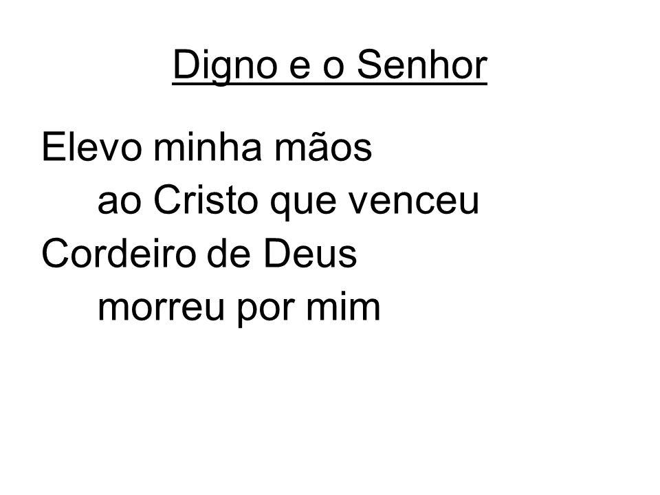 Elevo minha mãos ao Cristo que venceu Cordeiro de Deus morreu por mim