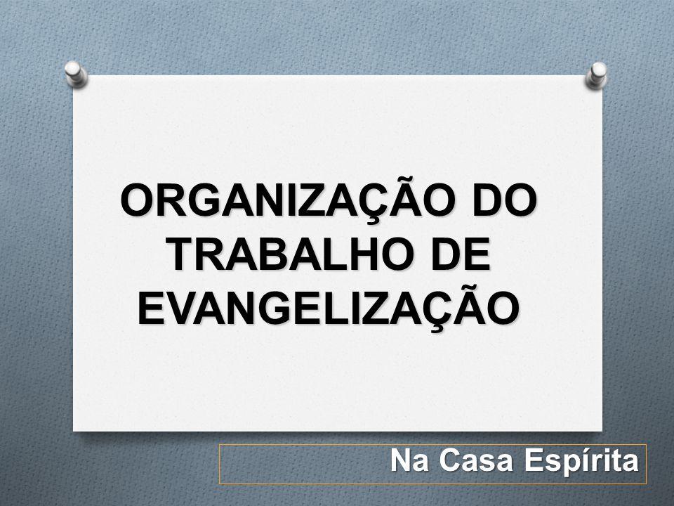 ORGANIZAÇÃO DO TRABALHO DE EVANGELIZAÇÃO