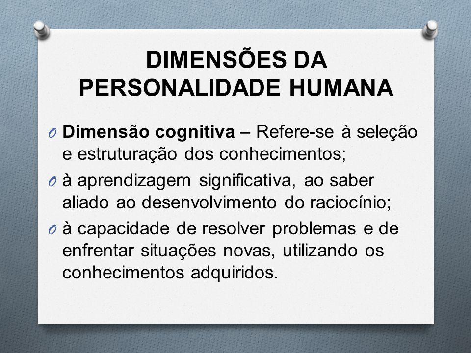 DIMENSÕES DA PERSONALIDADE HUMANA