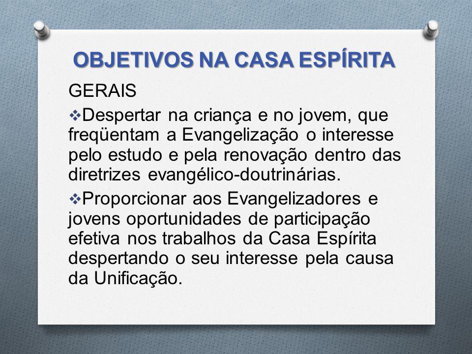 OBJETIVOS NA CASA ESPÍRITA
