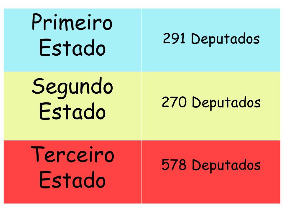 Primeiro Estado Segundo Estado Terceiro Estado 291 Deputados