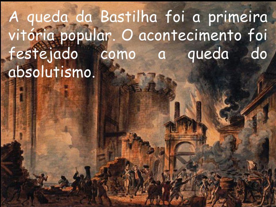 A queda da Bastilha foi a primeira vitória popular
