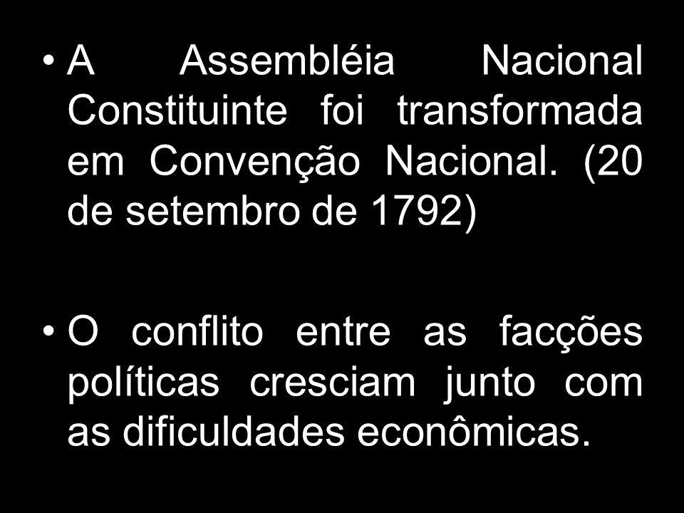 A Assembléia Nacional Constituinte foi transformada em Convenção Nacional. (20 de setembro de 1792)