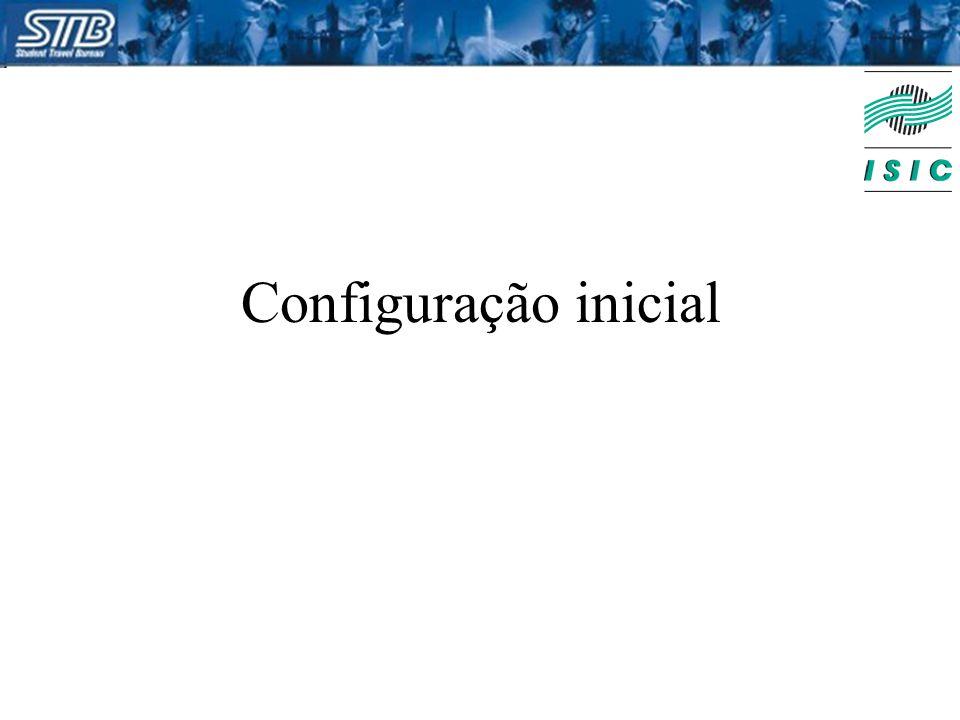 Configuração inicial