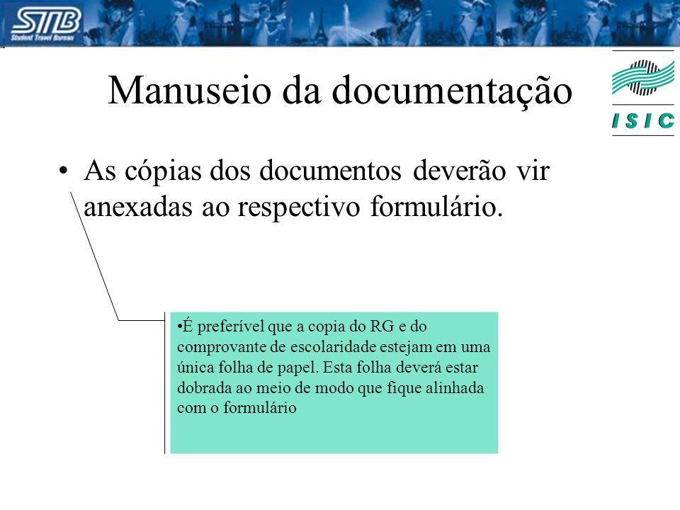 Manuseio da documentação