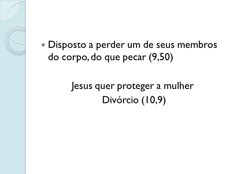 Jesus quer proteger a mulher