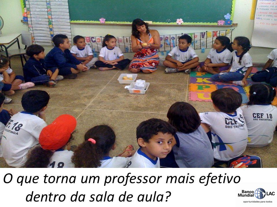 O que torna um professor mais efetivo dentro da sala de aula