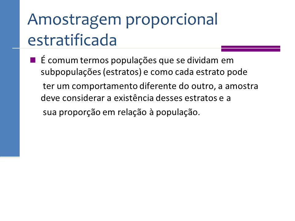 Amostragem proporcional estratificada