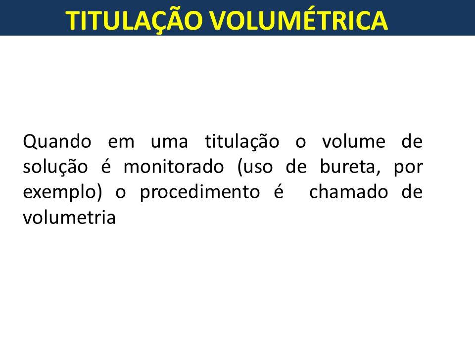 TITULAÇÃO VOLUMÉTRICA