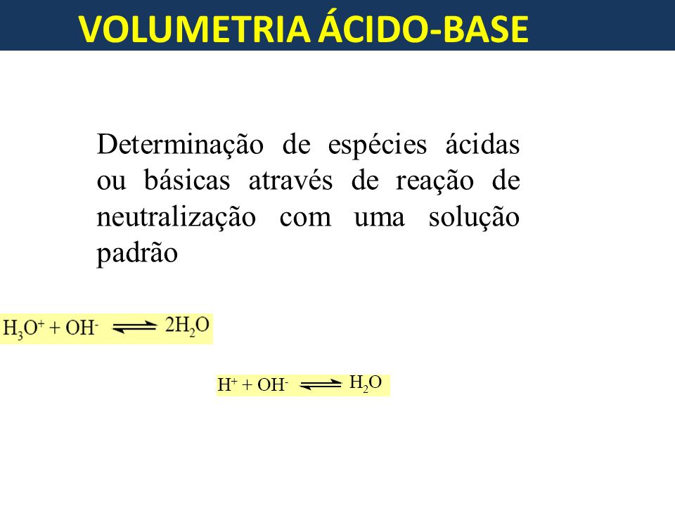 VOLUMETRIA ÁCIDO-BASE