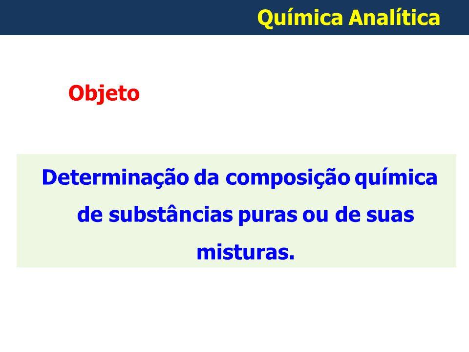 Química Analítica Objeto.