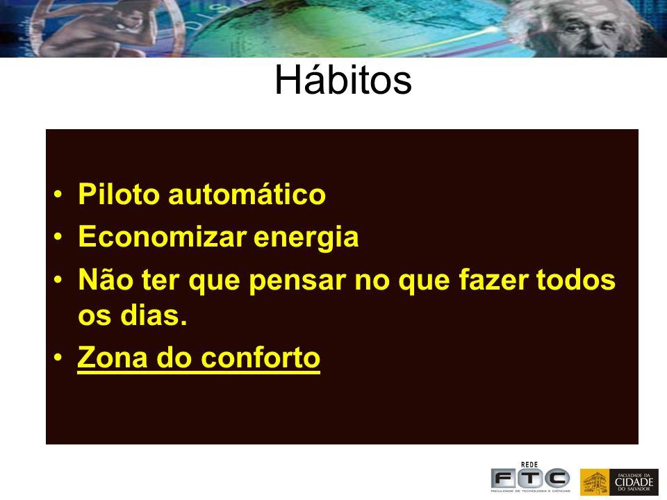 Hábitos Piloto automático Economizar energia