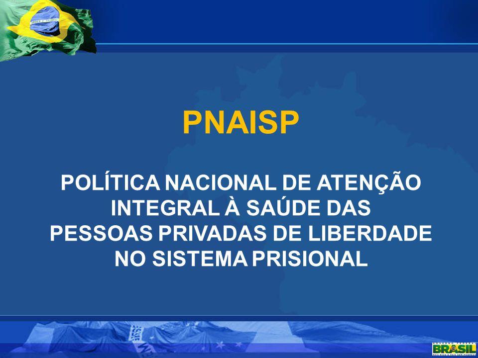 PNAISP POLÍTICA NACIONAL DE ATENÇÃO INTEGRAL À SAÚDE DAS