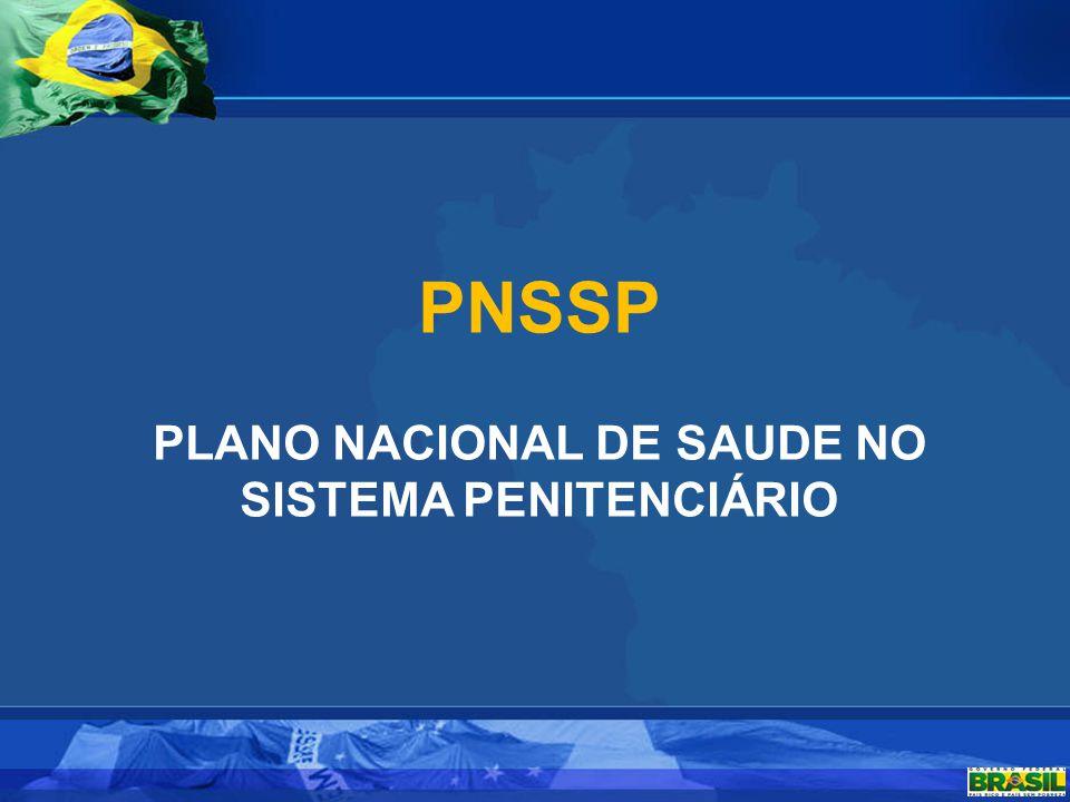 PLANO NACIONAL DE SAUDE NO SISTEMA PENITENCIÁRIO