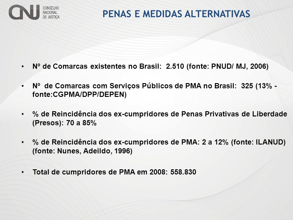 PENAS E MEDIDAS ALTERNATIVAS