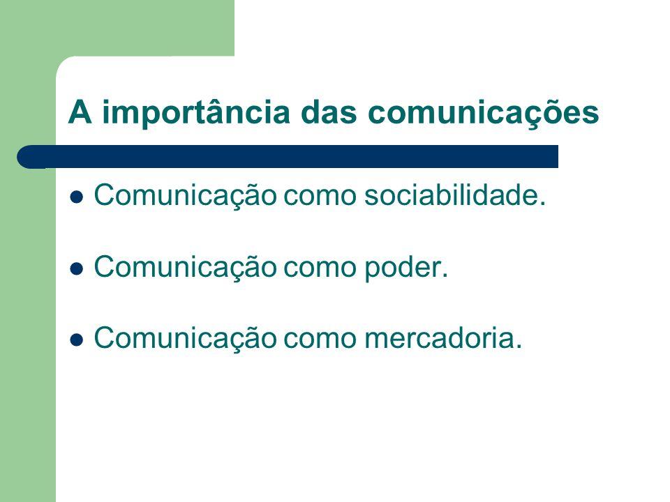 A importância das comunicações