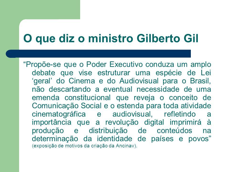 O que diz o ministro Gilberto Gil