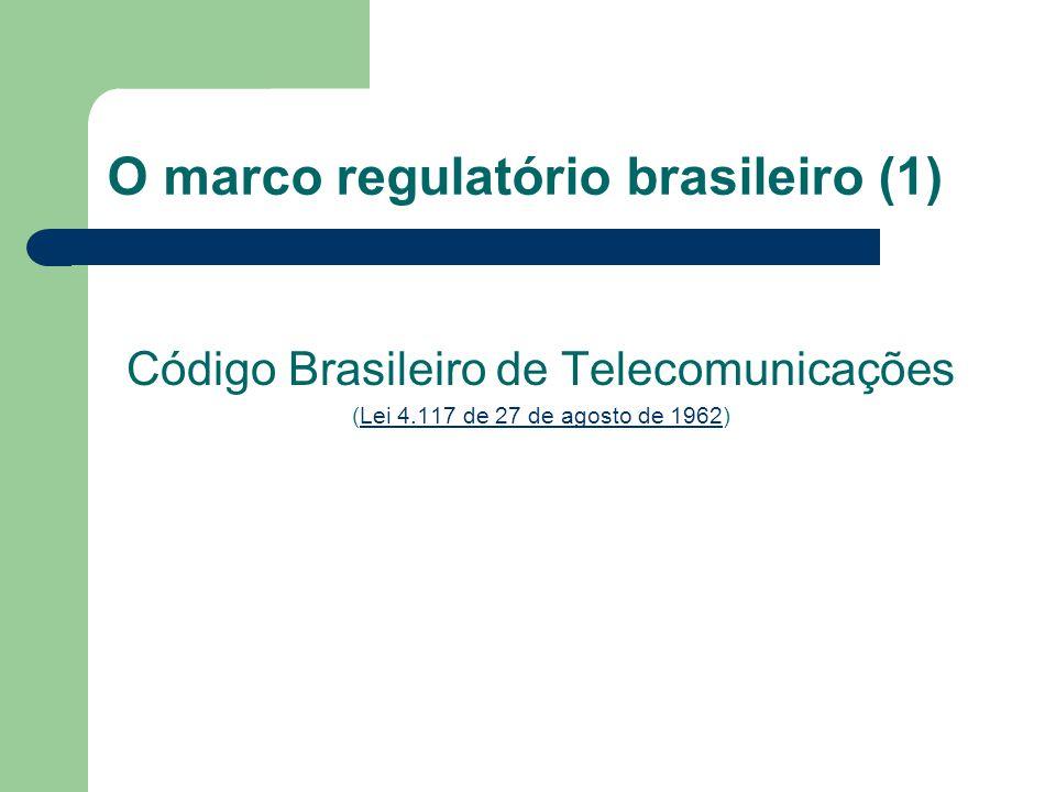 O marco regulatório brasileiro (1)