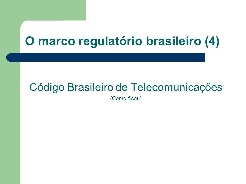 O marco regulatório brasileiro (4)