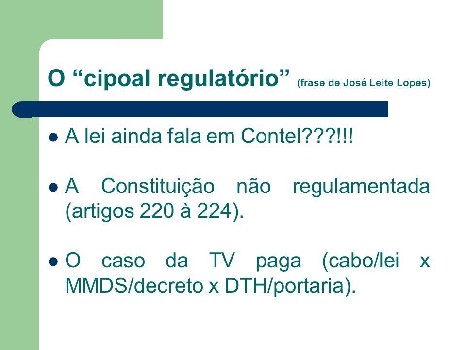 O cipoal regulatório (frase de José Leite Lopes)